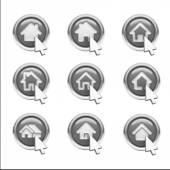 ícones para casa — Foto Stock
