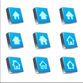 Home Icons isolated on white — Stock Photo