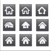 Home Icons isolated on white — ストック写真