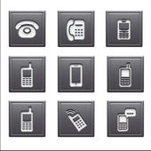 Contact Icons isolated on white — Foto de Stock