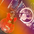 Guitar and drums on stage — Stock Photo #59542505
