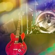 Guitar and drums on stage — Stock Photo #59542533