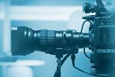 Professional video camera lens — Stock Photo