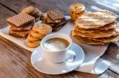 Butter and almond cookies — Stock Photo