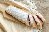 Cherry strudel — Stock Photo