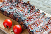 Grilled pork ribs in barbecue sauce — ストック写真