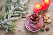 Mulled wine on Christmas eve — Stock Photo
