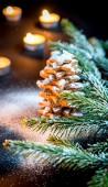 Homemade sweet Christmas tree — Photo