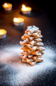 Homemade sweet Christmas tree — Stock Photo