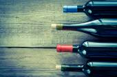 Bottles with red wine — Stock Photo