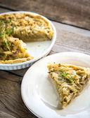 Open di torta di cipolle — Foto Stock