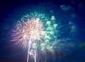 Fireworks on Independence day in USA — Stock Photo