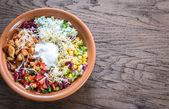 Chicken burrito bowl — Stock Photo