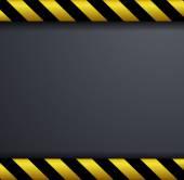 Metal warning vector background  — Stockvector