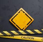 Metal warning sign — Stock Vector