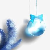 Christmas background with Christmas tree and Christmas ball — ストックベクタ