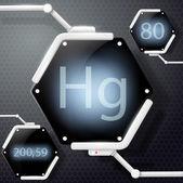 Chemical element mercury — Stock Vector