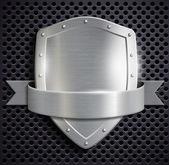 Metal shield — Stock Vector