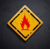 Metal işareti yangın — Stok Vektör