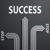Road leading to success — Stock Vector