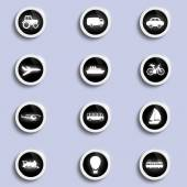 Set of icons of transport — Stock Vector