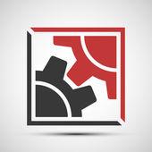 Ícones do vetor de engrenagens mecânicas — Vetor de Stock