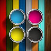 CMYK colors design — Stock Vector