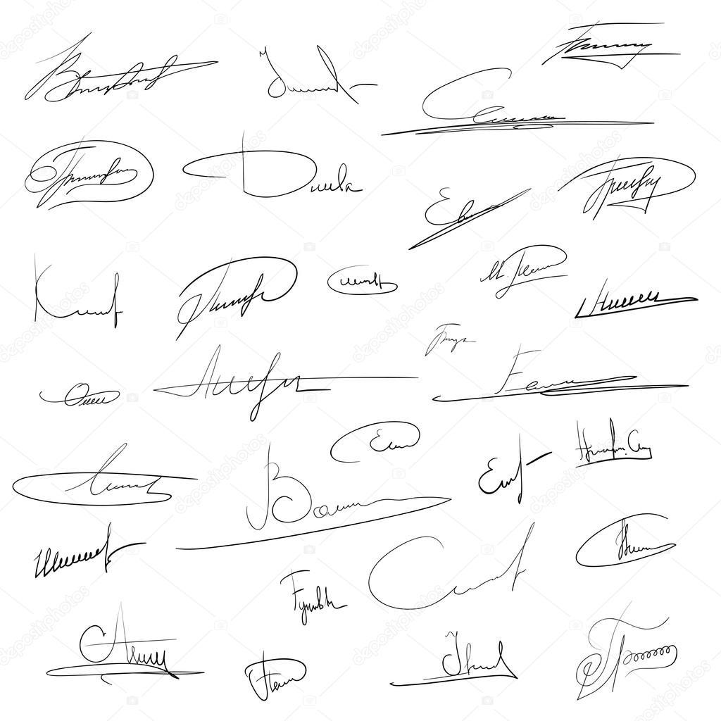 Подпись авторов на рисунках