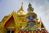 The Giant at the Buddha Temple, Thailand — Stock Photo
