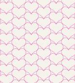 Pink seamless pattern with hearts.Vector illustration — Stock Vector