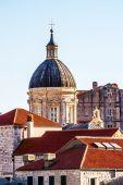 Old Dubrovnik city roofs, Croatia, Dalmatia — Стоковое фото