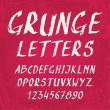 Handwritten grunge alphabet with letters and numbers — Stock Vector #62106541
