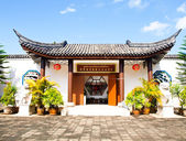 Entrance gate of Sirindhon Chinese cultural center in Chiang Rai, Thailand — Zdjęcie stockowe