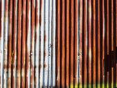 Rusty corrugated metal wall — Stock Photo