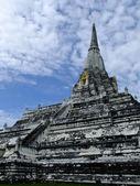 Phukhao Thong pagoda in Ayutthaya, old capital city, in Thailand — 图库照片