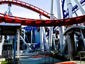 Roller coaster in amusement park  — Stock Photo