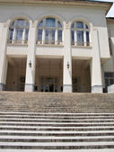 Entrance of historical building with steps and columns in Tehran — Stock Photo