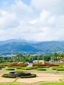 Mountain view from Mae Fah Luang University in Chiang Rai, Thailand — Foto Stock