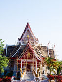 Buddhist monastry under renovation on Mae Salong hill, Chiang ra — Stock Photo