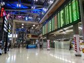 BANGKOK, THAILAND - FEBRUARY 20: Airport arrival board in Suvarn — Stock Photo
