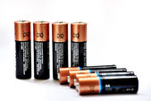 Penlight batteries on a white background — Stockfoto