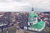 The view from the heights of the city Vladimir — Stock Photo