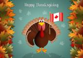 Turkey with flag of Canada for Thanksgiving — Stock Photo