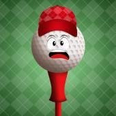 Bola de golfe engraçado — Foto Stock