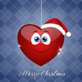 Funny smiling heart for Christmas — Stock Photo