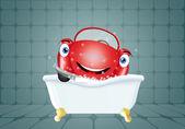Funny car in bath — Stok fotoğraf