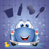 Funny car wash — Stock Photo