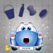 Funny car washing — Stock Photo