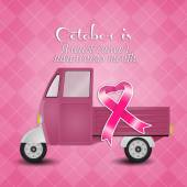 Pink Ribbon For Breast Cancer Prevention — Stock Photo