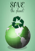 Green earth for save the planet — Stock Photo